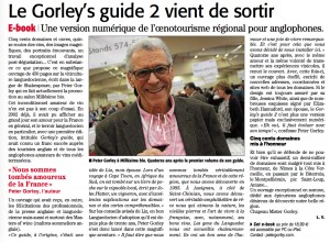 Midi Libre on Gorley's New Guide to Wines of L-R